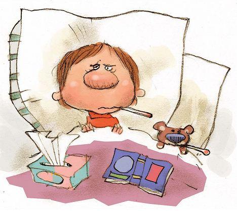 Dibujo niños enfermos - Imagui